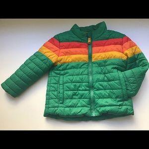 Cat & Jack Retro Stripe Lightweight Puffer Jacket